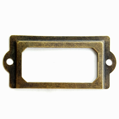 30pcs 70*33mm Antique Bronze Card Holder Drawer Label Brand Shelves Note Gripe Accessories Wholesale Paper Planes clear acrylic a3a4a5a6 sign display paper card label advertising holders horizontal t stands by magnet sucked on desktop 2pcs