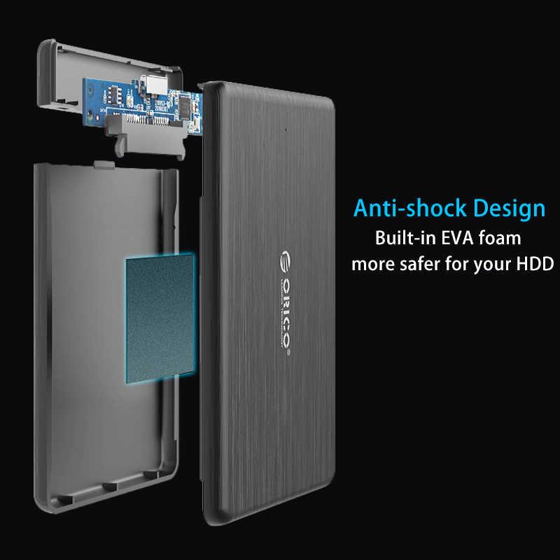 ORICO 2.5 بوصة HDD Case USB3.0 إلى SATA 3.0 مايكرو B قرص صلب خارجي ضميمة 5 Gbps صندوق عالي السرعة لدعم HDD SSD UASP