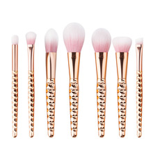 7pcs Luxury Plating pinceis unicornio Makeup Brushes Set Eye Shadow Blush brochas unicornio makeup Brushes Tool