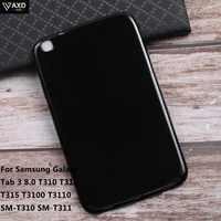 Tablette étuis pour samsung Galaxy Tab 3 8 pouces T310 T311 T315 T3100 T3110 SM-T310 SM-T311 Tab3 Simple Coque Protection Cove Coquille