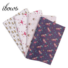 IBOWS 22*30cm Mermaid Ballerina Printed Faux Leather Synthetic Leather Fabric for DIY Hair Bows Accessories Handmade Bags Crafts ahb synthetic leather glitter printed unicorn shiny fabric faux leather sheets diy hair bows fabric handmade crafts materials