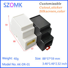 2 pieces, szomk hot selling abs material plastic enclosure for electronics plastic box 88*37*59mm plc din rail junction box(China (Mainland))