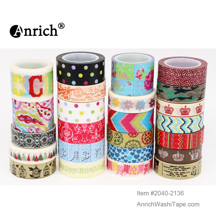 Free Shipping And Coupon Washi Tape,Anrich Washi Tape #2048-2136,basic Design,colorful,customizable