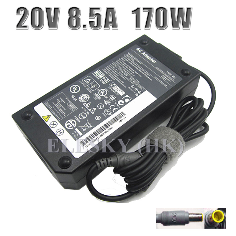 ФОТО 2016 Rushed New 20v For Lenovo Magsafe 170w Ac Adapter Charger Power Supply For Lenovo Thinkpad W520i T520 W520 W530