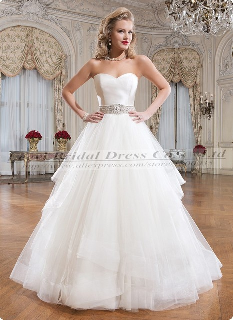 35106566 Vestido De Noiva Barato Tulle Pnina Tornai Wedding Dresses Belt 2015 Cheap  Elegant Simple Ball Gown Wedding Dresses Bride Dress