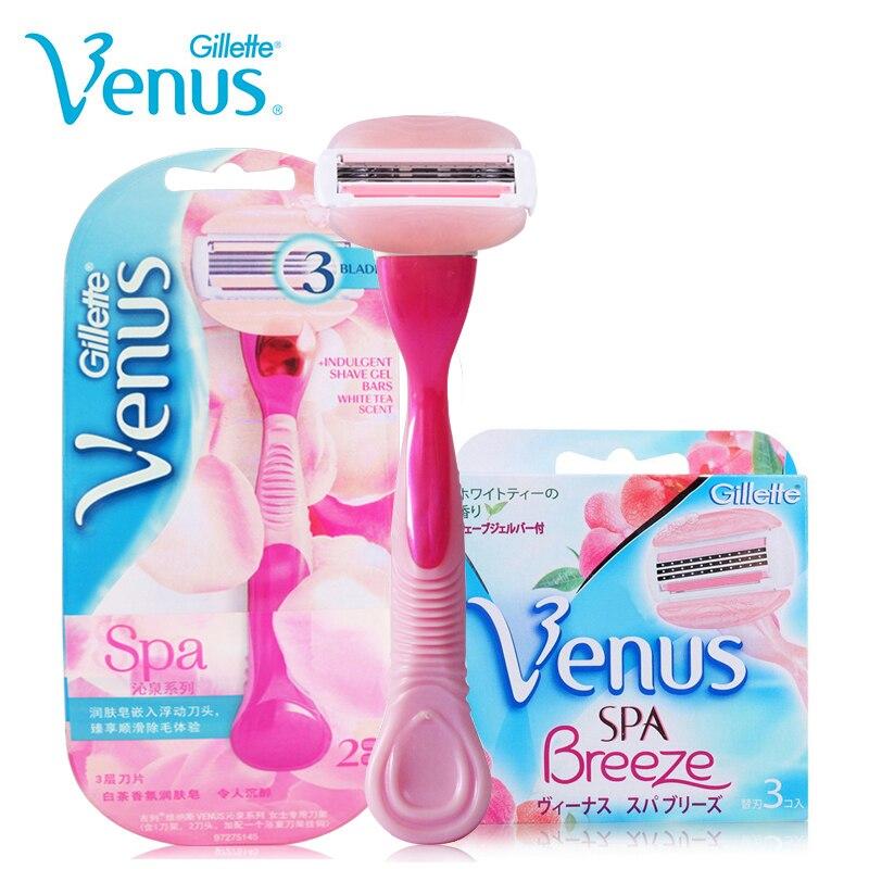 Genuine Gillette Venus Breeze Shaving Razor Blades Set For s