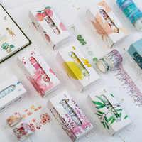 5 teile/los Herbst Washi Band Set Blume Masking Tape Dekorative Kawaii Japanische Schreibwaren Scrapbooking Büro Schule Liefert