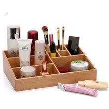 Простой Пастырской Мульти-Сетка деревянный ящик для хранения Моды Столе косметический бамбука коробка для хранения Главная Хранения Организация