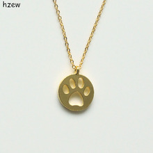 Dog Paw Love pendant necklace / 4 Colors
