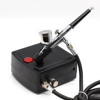 0.2mm Airbrush Paint Airbrush Compressor Air Brush Spray Gun Sprayer Pen Kit Makeup Airbrush Cake Needle Body Paint Nail Tattoo