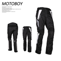 M 3XL 4XL Motorcycle Waterproof Pants Protective Gear Motoboy Black PU Leather Lining Full Length Ltd Motocross Racing pants Men