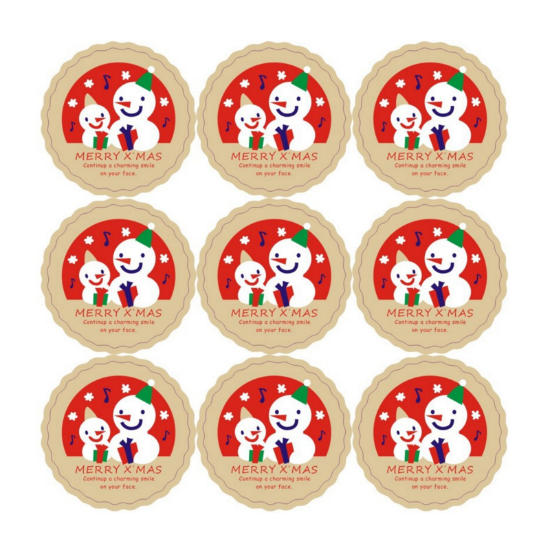 90pcs/lot Kawaii Christmas Music Snowman Adhesive Seal Sticker Gifts Label Sticker DIY Homemade Celebrate Christmas