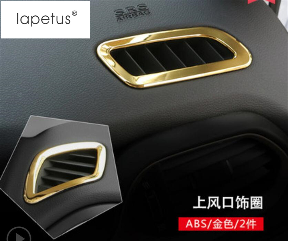 Accessories For Jeep Renegade 2015 - 2018 Air Conditioning AC Vents Frame Dashboard Air Outlet Decor Molding Cover Kit Trim