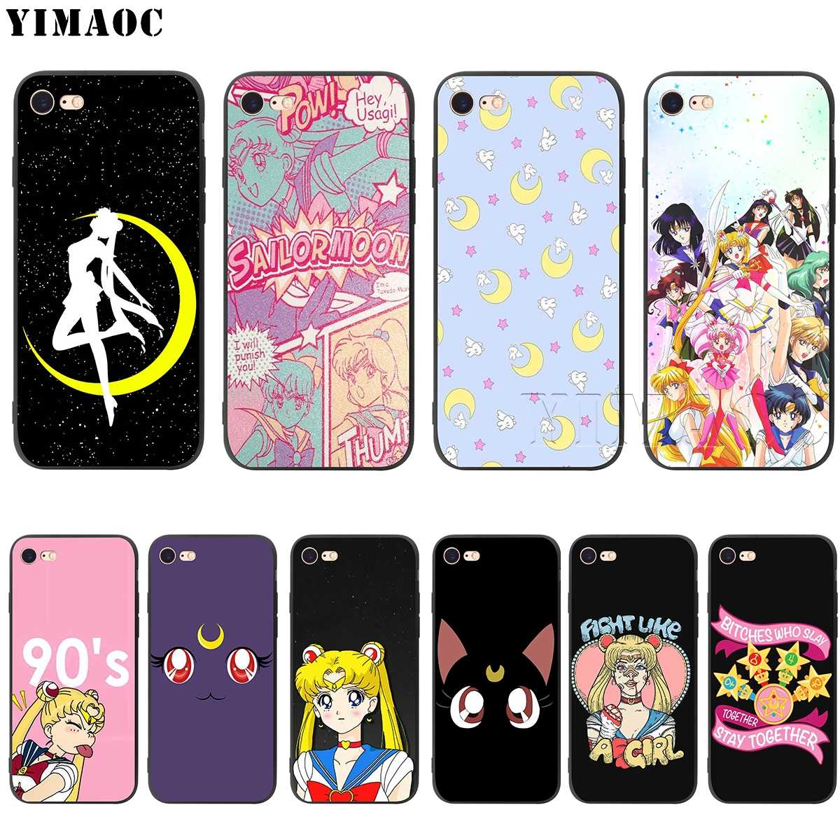 Yimaoc Sailor Moon Silikon Lembut Case untuk iPhone 11 Pro XS Max XR X 8 7 6 6S PLUS 5 5S SE