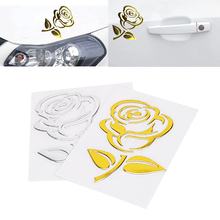 3D Golden – Silver Flower Car Stickers
