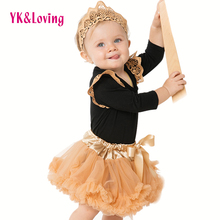 Clothes-Sets Rompers Coat Costume Girl Infant Baby for Fluffy 0-2y/Chiffon/Pettisk Black