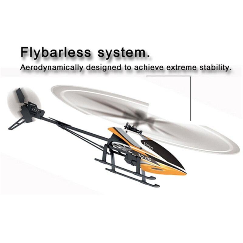 Helicóptero WLtoys V950 BNF (sin mando a distancia) (con batería y cargador) (Puede usar el transmisor V977 V966)-in Helicópteros RC from Juguetes y pasatiempos    3