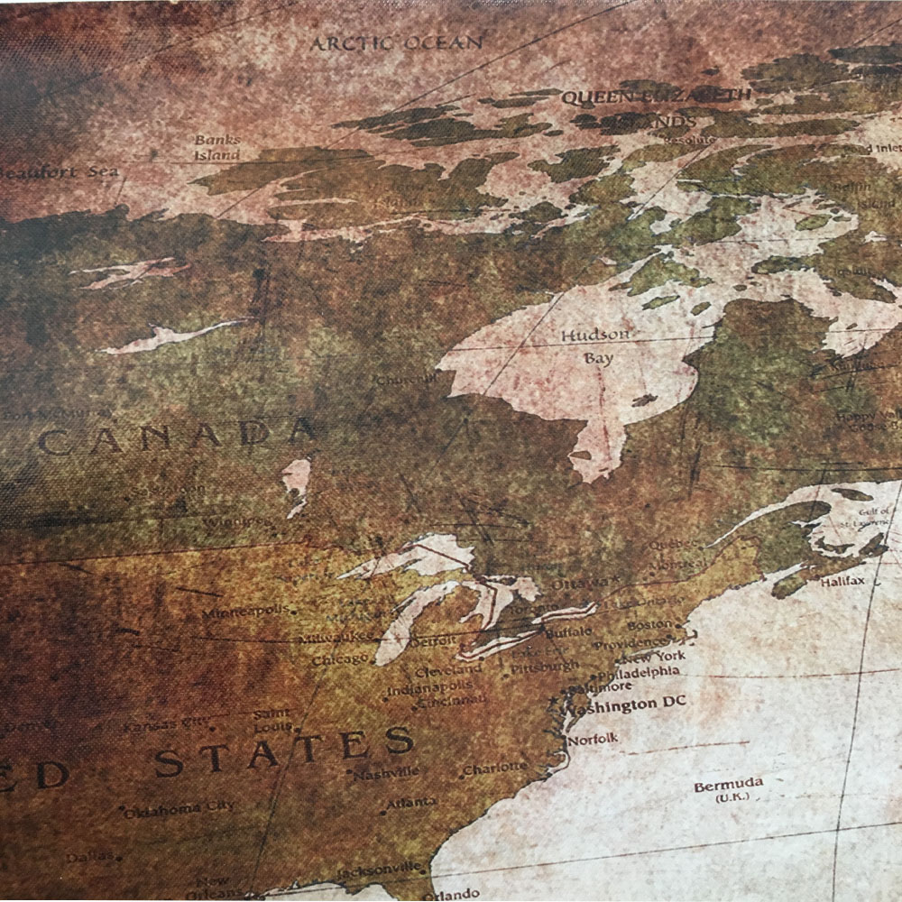 3 panel vintage world map canvas painting oil painting print on 3 panel vintage world map canvas painting oil painting print on canvas home decor wall art wall picture for living room unframed in painting calligraphy gumiabroncs Gallery