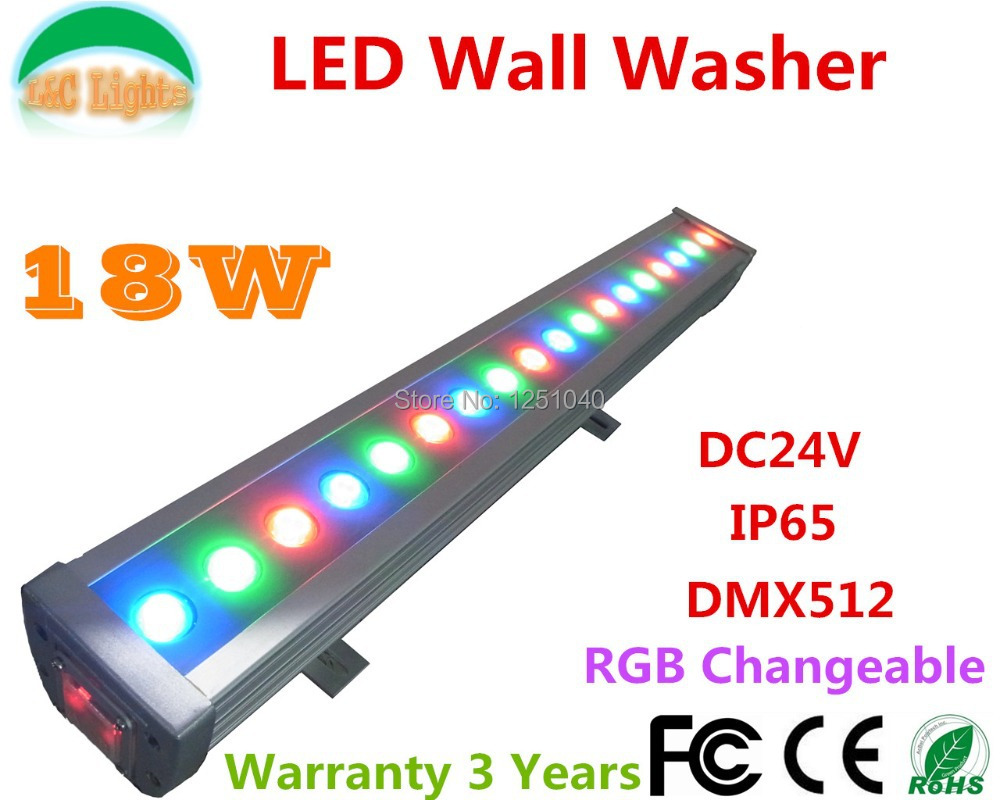 18W RGB Changeable LED Wall Washer DC24V Outdoor Spotlights 3 channel DMX Floodlights IP65 Waterproof Buildings Projector Light fashionable purple twill pattern 8 5cm width deep blue tie for men