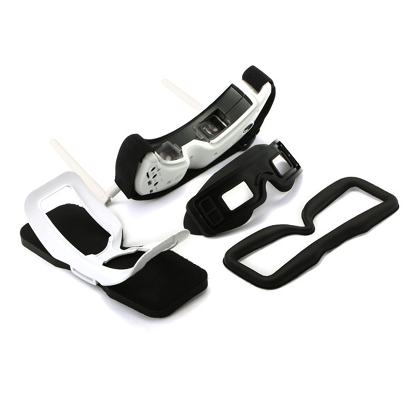 3D FPV Goggle Glasses with 3D/2D Mode5.8G 40CH 3D FPV Drone Goggles Only White Built-in Head Tacking For SKY02S V+