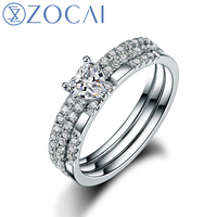 ZOCAI 2014 New Arrival 100 Natural Diamond Ring 0 75 Ct Certified Diamond 18K White Gold