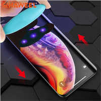 HAWEELUV UV Liquid Curved Full Glue Full Screen Tempered Glass for iPhone XS/ XR /Huawei P30 Lite/Huawei P30/ P20 /Galaxy S9