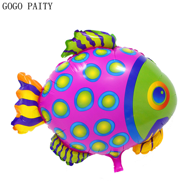 GOGO PAITY  Free shipping hot spotted fish aluminum balloon high quality self-sealing