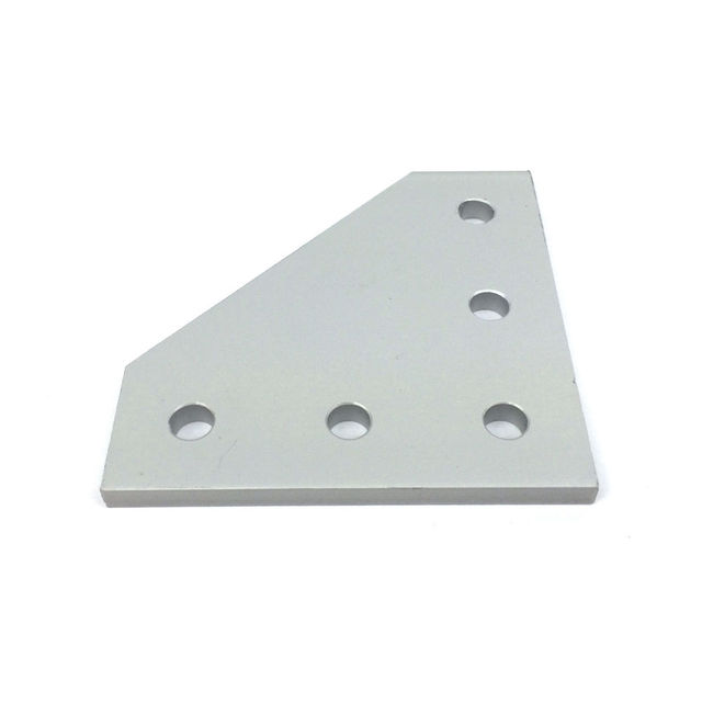 10pcs 3D Printer anodized 90 Degree Joining Plate with 5 holes for Openbuilds CNC V-Slot 2020 3030 4040 Aluminum profiles