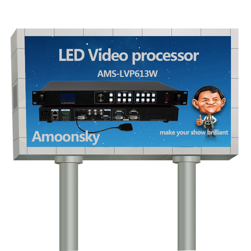 best hot sales ams-lvp613w with wifi rgb full color led matrix panel hdmi video switcher sign display rgb led display controller diy rgb full color store window led sign module 6 pcs 1pc power supply 1pc led controller 1set frame