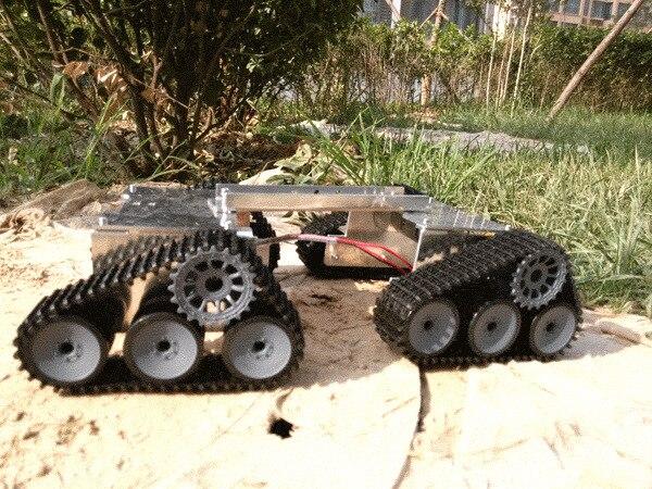super grande tank car ch ssis sur chenilles robot bricolage intelligent kit de d veloppement. Black Bedroom Furniture Sets. Home Design Ideas