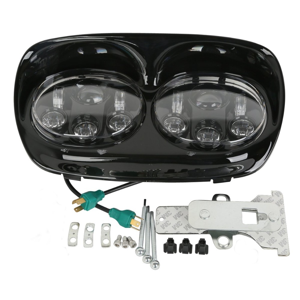 5 3/4 Dual LED Projector Headlight For Harley-Davidson Road Glide models 1998-20135 3/4 Dual LED Projector Headlight For Harley-Davidson Road Glide models 1998-2013