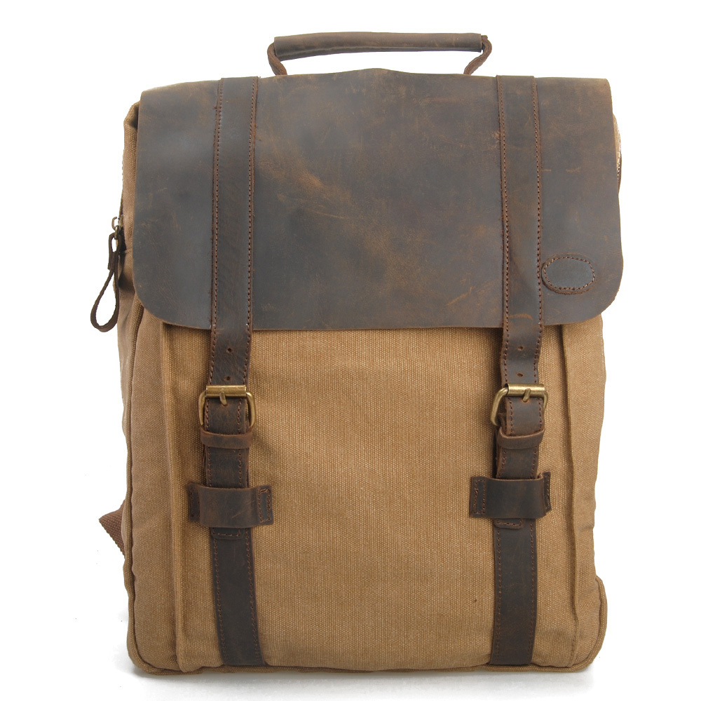 New Arrival Men Canvas Backpack Vintage Rucksack Travel Bagpack Students School Bags Khaki Blue Retro Laptop Women Male Mochila
