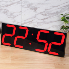 Large Digital  Wall Clock Modern Design Display Countdown  Calendar Temperature Alarms Wall Watch In The Living Room Home Decor
