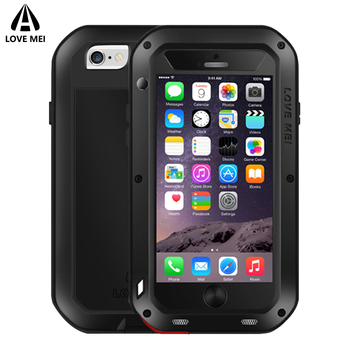 Love Mei Case For iPhone 6 6s 6Plus 6s Plus Armor Metal Shockproof Waterproof Aluminum Cover For iPhone6 6sPlus Outdoor Case iphone 6