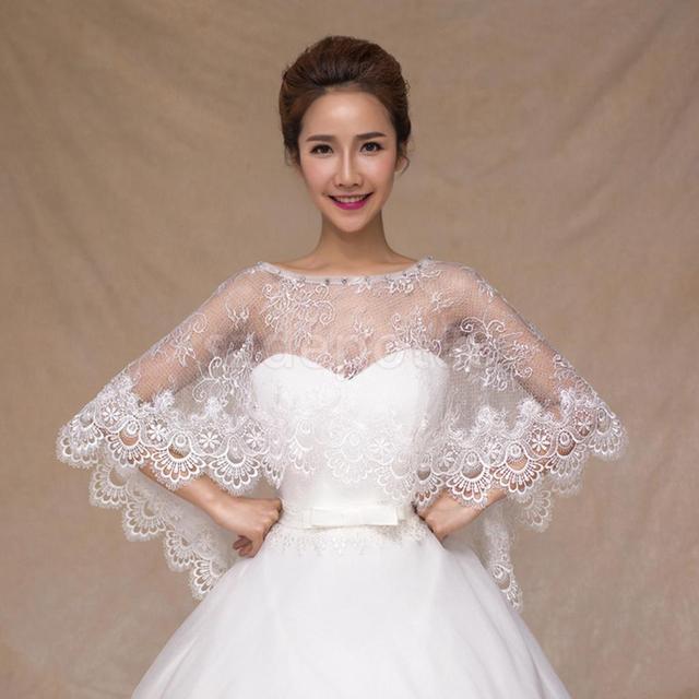 W Ultra Eleganckie białe koronki kwiat Bridal szal ślub szal wieczór Party MW33