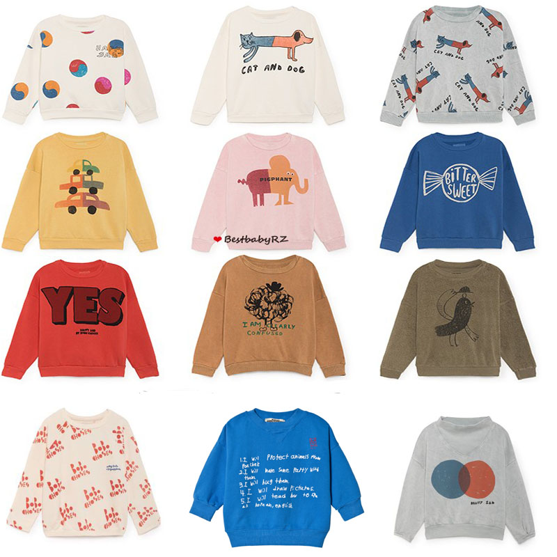 1db58738006e KIDS SWEATSHIRTS 2018 Autumn winter Bobo Choses animal cartoon Long Sleeve  children Boys Girls T Shirts Baby Tees Tops vestidos