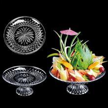 Акриловая десертная Фруктовая тарелка, высоко прозрачная тарелка для закусок, вечерние столовые приборы, праздничная тарелка для торта, кухонные принадлежности