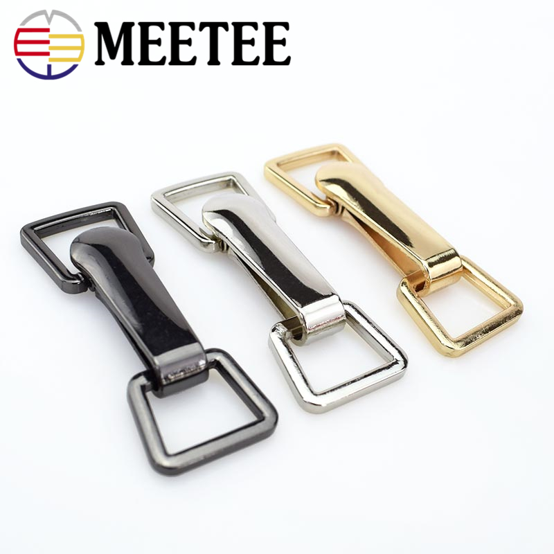 2/4sets Meetee 18*73cm Metal Buttons Garment Hook Buckle Apparel Belt Decoration DIY Sewing Clothing Down Coat Buckle Supply