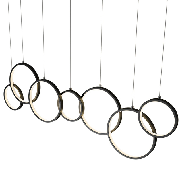 New Modern Pendant Lights LED for Living room Bedroom Circle rings suspension dining room coffee bar Lights Hanging Pendant lamp