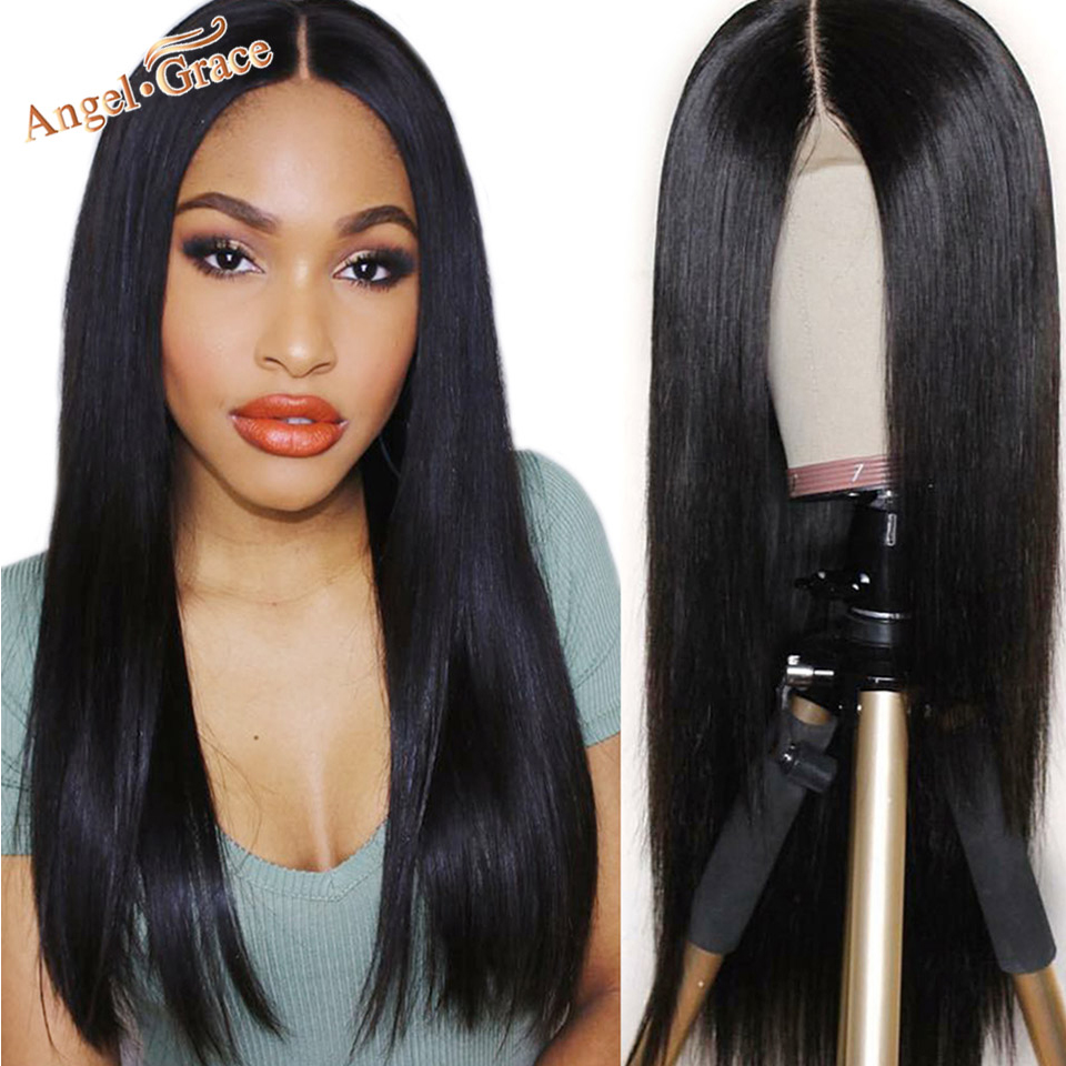 Brazilian Silky Straight Lace Front Wigs For Women Natural Black 13x4 13x6 Remy Human Hair Wigs