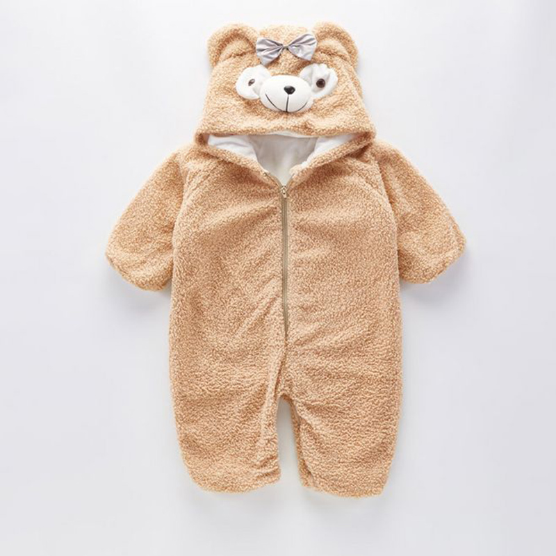 a40bab193 Cute Baby Winter Duffy Bear Romper Fleece Kids Pajamas Christmas ...