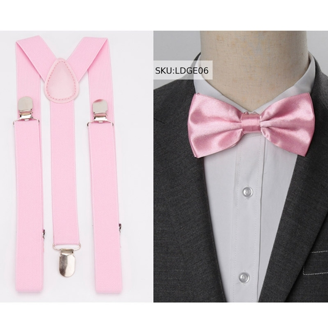 Suspenders And Bow Tie Set for Man or Women
