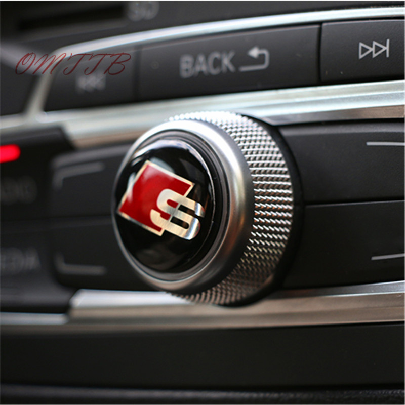 control panel knobs decorative stickers S Line Sline Logo Badge Sticker interior refit the highlight special labeling for Audi