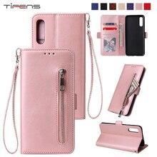 Leather Case For Samsung A71 A51 A70 A50 A40 A30 A20 A10 s M30 M20 M10 A6 A7 A8 A9 2019 A5 A3 2017 Flip Zipper Wallet Cover Bags