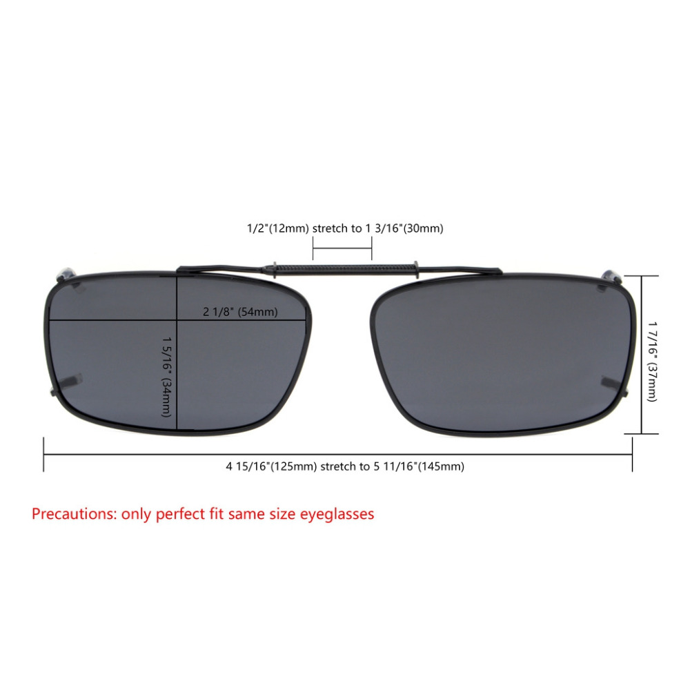 ee1dbf076c2 C61 Mix Eyekepper Grey Brown G15 Lens 3 pack Clip on Polarized Sunglasses  54x34MM-in Sunglasses from Apparel Accessories on Aliexpress.com