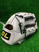 Top quality!DL12 Professional Full cowhide Baseball Gloves ,white Color,Free shipping