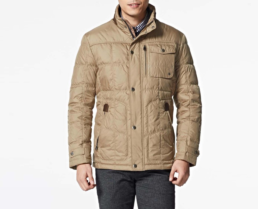 Branded mens winter duck down coat male warm thick jacket ...