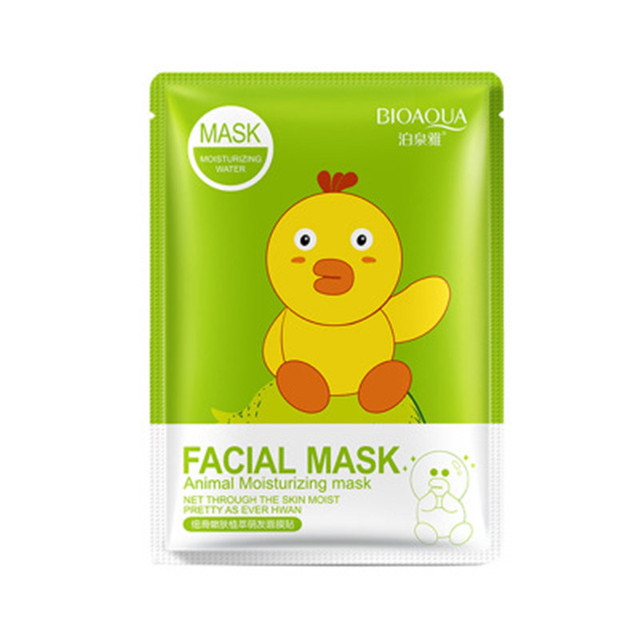 BIOAQUA Face Mask Hyaluronic Acid Vitamin C Plant Extracts Moisturizing Whitening Depth Replenishment Korean Skin Care Mask