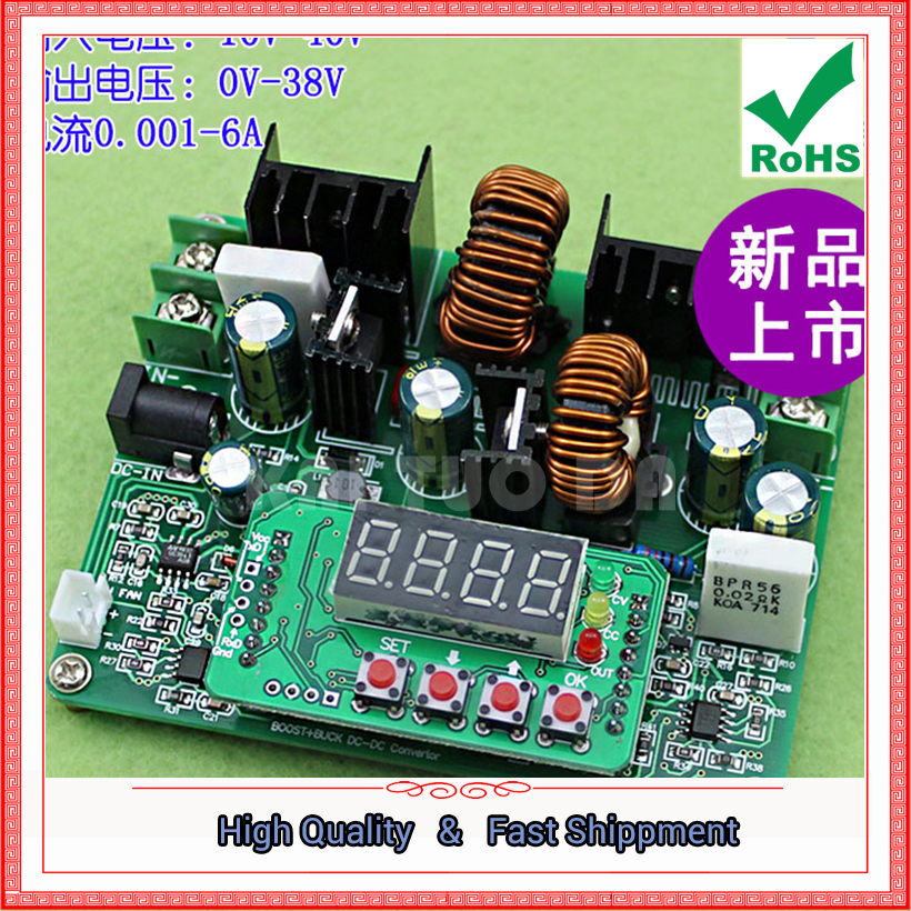 1pcs D3806 CNC DC Regulated constant current power supply adjustable step up and down module voltage & current 38V 6A Booster