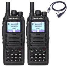 2 Pcs Baofeng DM 1701 Walkie Talkie Dual Time Slot DMR Digital Tier1 & 2 วิทยุแบบพกพาและ SMS ฟังก์ชั่น DM 5R DM 1701 วิทยุ + USB